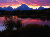 Sunset Over Snake River, Oxbow Bend, Grand Teton National Park, USA Reproduction photographique par Carol Polich