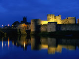King John's Castle Over the River Shannon, Limerick, County Limerick, Ireland, Munster Photographic Print by Martin Moos