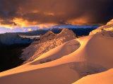 Sunset on the Glacier Above Ishinca Valley, Cordillera Blanca, Ancash, Peru Photographic Print by Grant Dixon