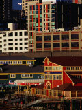 Buildings on Pier 55, Seattle, USA Photographic Print by Richard I'Anson