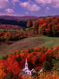 Steeples of Vermont Art Print