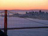 Dawn Over the Golden Gate Bridge from Marin Headlands, San Francisco, California, USA Photographic Print by David Tomlinson
