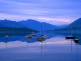 Moored Yachts on Loch Broom, Ullapool, Scotland Photographic Print by Grant Dixon