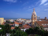 View Over Cartagena De Indias to Cathedral, Cartagena,Bolivar, Colombia Photographic Print by Alfredo Maiquez