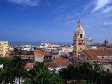 View Over Cartagena De Indias to Cathedral, Cartagena,Bolivar, Colombia Photographic Print by Alfredo Maiquez