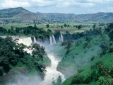 Blue Nile Falls, Near Bahar Dar, Bahar Dar, Ethiopia Fotografisk tryk af Bethune Carmichael