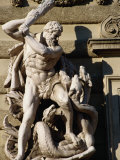 Statue of Hercules on the Michaelertrakt, Vienna, Austria Photographic Print by Diana Mayfield