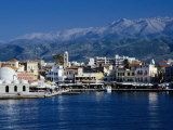 Harbour and Mosque of the Janissaries on Waterfront, Hania, Crete, Greece Photographic Print by Diana Mayfield