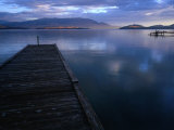 Jetty of Flathead Lake at Dusk, Montana, USA Photographic Print by Rob Blakers