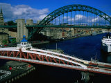 Tyne and Swing Bridges, Newcastle-Upon-Tyne, United Kingdom Photographic Print by Neil Setchfield