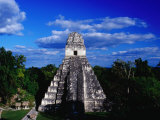 Temple of the Grand Jaguar on the Great Plaza, Tikal, El Peten, Guatemala Photographic Print by Richard I'Anson