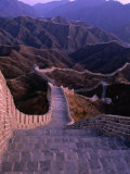 Great Wall of China, Badaling, China Fotoprint van Nicholas Pavloff