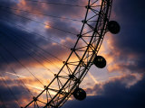 Detail of London Eye at Sunset, London, United Kingdom Photographic Print by Dennis Johnson