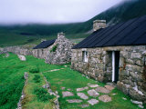 Abandoned Houses in Village of Hirta, St. Kilda, Western Isles, Scotland Photographic Print by Grant Dixon