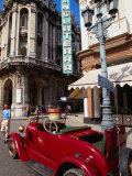 Old American Car in Front of Hotel Inglaterra, Havana, Cuba Photographic Print by Doug McKinlay