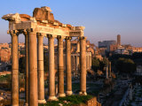 Eight Granite Columns, All That is Left of Tempio Di Saturno, Rome, Italy Photographic Print by Jonathan Smith