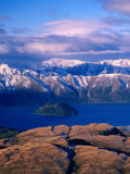 Aerial View of Lake Wanaka, Wanaka, New Zealand Photographic Print by David Wall