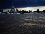 Clouds Over Wat Arun, Bangkok, Thailand Photographic Print by Ryan Fox