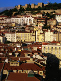 Rooftops and Buildings of City, Lisbon, Portugal Photographic Print by Bethune Carmichael