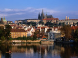 Prague Castle and Mala Strana (Small Quarter) Seen from Across Vltava River, Prague, Czech Republic Photographic Print by Jonathan Smith