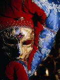 Elaborate and Ornate Mask for Venice Carnival, Venice, Italy Fotodruck von Damien Simonis