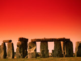 Stonehenge at Sunrise, Stonehenge, United Kingdom Photographic Print by Manfred Gottschalk