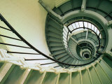 The Spiral Staircase at the Ponce Deleon Inlet Lighthouse,Daytona Beach, Florida, USA Photographie par Richard Cummins