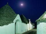 Moon Over Distinctive Houses of Trulli Region, Alberobello, Puglia, Italy Photographic Print by Stephen Saks