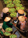 Floating Market along the Mekong Delta, an Giang, Vietnam Photographic Print by John Banagan