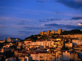City and Castelo De Sao Jorge on Hill, Lisbon, Portugal Photographic Print by Martin Moos