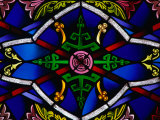Detail of Stained-Glass Window in a Church, New Orleans, Louisiana, USA Photographic Print by Ray Laskowitz