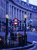 Underground Station Sign, London, United Kingdom, England Photographic Print by Christopher Groenhout
