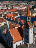 Rooftops and Old Town Hall, Munich, Germany Photographic Print by Wayne Walton