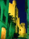 Church and Castle of Sant Marti Illuminated at Night, Altafulla, Tarragona, Catalonia, Spain Photographic Print by David Tomlinson