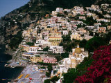 Domed Church of Santa Maria Dell'Asunta in Foreground with Village Behind, Positano, Italy Photographic Print by Jonathan Smith
