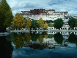 View of Impressive Potala Palace and Lake in Chingdrol Chiling (Liberation Park), Lhasa, Tibet Photographic Print by Richard I'Anson