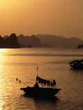 Dusk Over Halong Bay, Halong City, Vietnam Photographic Print by Oliver Strewe