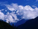 Manaslu from Marsyangdi Valley, Annapurna, Gandaki, Nepal Photographic Print by Gareth McCormack