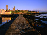Early Morning on the Pier, St. Andrews, United Kingdom Photographic Print by Jonathan Smith