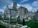 Ruin of Ennis Friary, Founded by O'Brien Kings of Thomond in 13th Century, Ennis, Ireland Photographic Print by Tony Wheeler