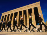 Changing of the Guard at Ataturk Monument, Anit Kabir Mausoleum, Ankara, Turkey Photographic Print by John Elk III