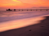 Venice Beach Pier, Los Angeles, California, USA Photographic Print by Richard Cummins