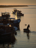 Lobster Boats Moored Near Public Pier in Harbour at Camp Ellis, USA Photographic Print by Kevin Levesque