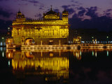 Golden Temple (Harmandir Sahib) on Waterfront, Amritsar, Punjab, India Photographic Print by Richard I'Anson