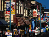 Shops on Beale Street, Memphis, USA Photographic Print by Richard I'Anson