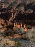 Kasbah in Gorges of Dades Valley, Dades Gorge, Morocco Photographic Print by Frances Linzee Gordon