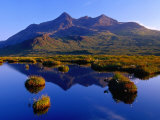 The Black Cuillin Reflected in Waters of Small Lochan, Isle of Skye, Scotland, Photographic Print