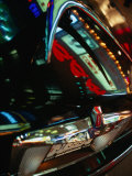 Lights of Times Square Reflected on Trunk of Limousine, New York City, New York, USA Photographic Print by Angus Oborn