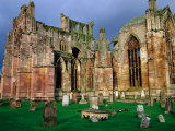 Melrose Abbey Was Founded in 1131 by David I & the Cistercian Monks from France, Melrose, Scotland Photographic Print by Glenn Beanland