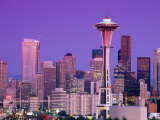 City Skyline at Dusk, Seattle, Washington, USA Photographic Print by Richard Cummins